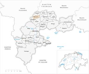 Karte Gemeinde Weingarten 1994