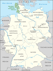 Map showing the location of Schleswig-Holstein Wadden Sea National Park