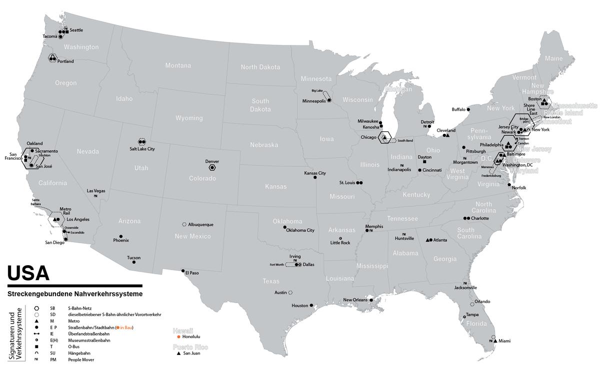 Lijst Van Steden Met Tramlijnen In De Verenigde Staten