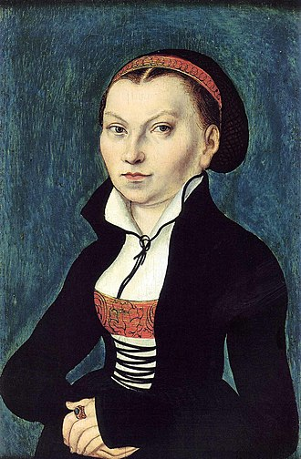 Paul Luther - Luther's mother Katharina von Bora, by Lucas Cranach the Elder, 1526
