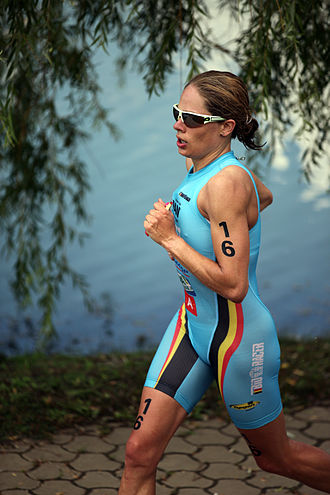 Katrien Verstuyft - Katrien Verstuyft at the World Cup triathlon in Tiszaújváros, 2011.