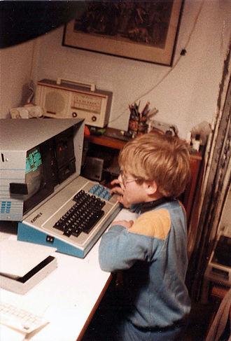 Kaypro - Boy with Kaypro II, 1984