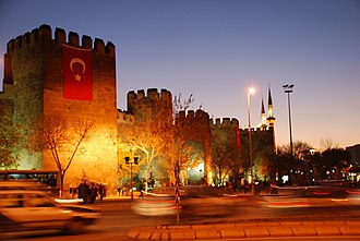 Kayseri - Kayseri city walls in 2006