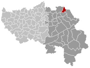 Kelmis - Image: Kelmis Liège Belgium Map