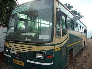 Kerala State Road Transport Corporation - Image: Kerala State RTC Super Express side view
