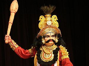 Sirsi, Karnataka - Yakshagana artist with Kirita depicts King