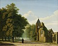 Kerk aan een zandweg met bomen Centraal Museum 15220.jpg