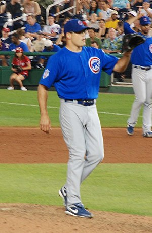 Kevin Gregg - Gregg pitching for the Chicago Cubs in 2009