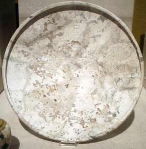 Layer Pyramid - Dolomite bowl bearing the serekh of Khaba from Mastaba Z500.