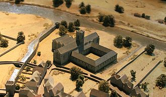 St. Francis Abbey - Model of the friary as it would have looked c. 1500