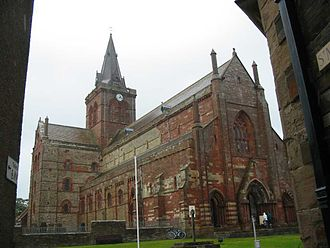 Orkney - St Magnus Cathedral in Kirkwall