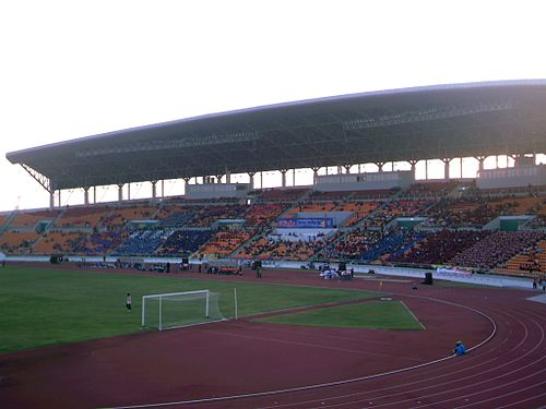 His Majesty the King's 80th Birthday Anniversary, 5 December 2007 Sports Complex. Korat v Thailand XI.JPG