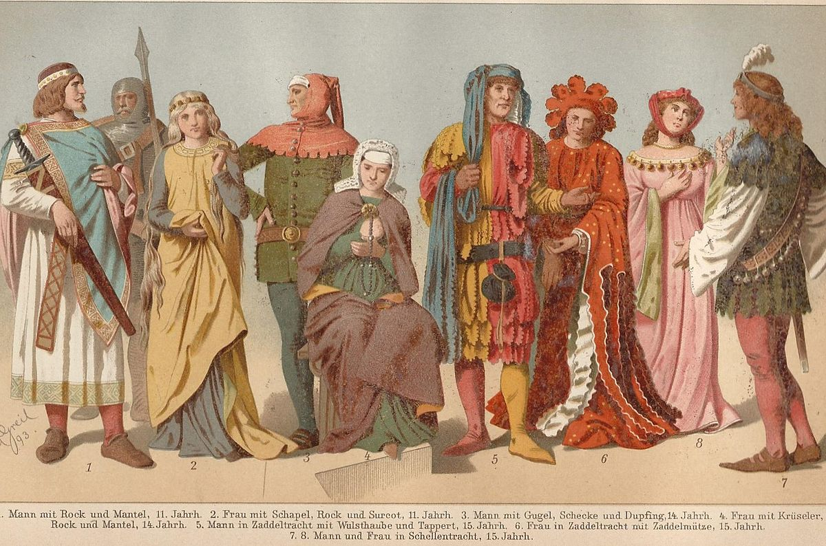 Medieval clothes and fashion 76