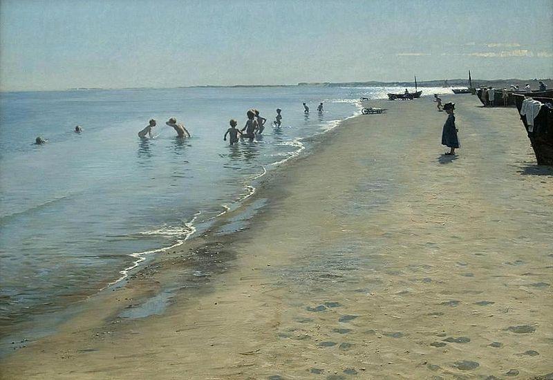 File:Krøyer Sommerdag ved Skagens Sønderstrand 1884.jpg