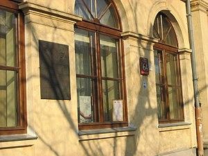 Ignacy Domeyko - Krakowskie Przedmieście 64, Warsaw, with plaque commemorating Domeyko