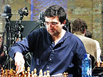 Vladimir Kramnik - Kramnik in the 18th round of  the World Blitz Championship 2015 (winning against Levon Aronian)