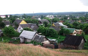 Krasnaye village, Maladzechna district, Belarus.JPG