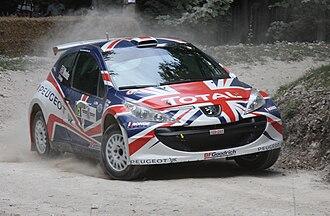 Kris Meeke - Meeke in the Peugeot 207.
