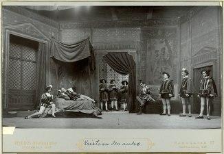 Kung Kristian II, Dramatiska teatern 1899. Föreställningsbild - SMV - H10 025.tif