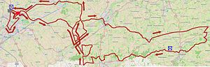 Kuurne–Brussels–Kuurne - Route of the 2015 edition