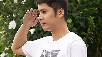 Kim Kyu-jong - Kim Kyu Jong showing his army hair for the first time while saluting at Jeonju, North Jeolla Province on July 23, 2012