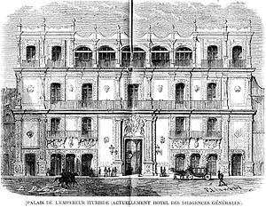 Palace of Iturbide - Palace of Iturbide (L'Illustration, 1862)