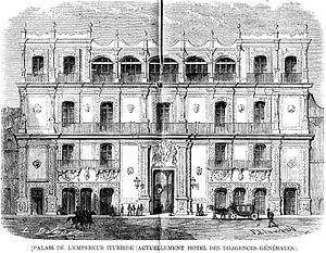 Palace of Iturbide - Palace of Iturbide (L'Illustration, 1862)