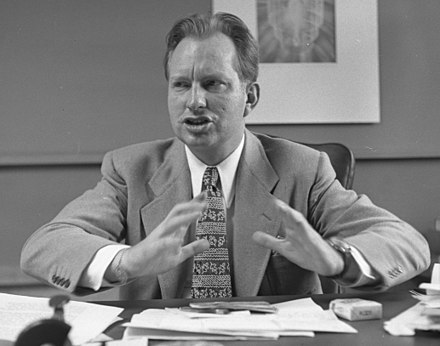 L. Ron Hubbard, founder of the Church of Scientology L. Ron Hubbard in 1950.jpg