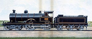 George Whale - Alf Cooke print of ''Precursor'' Class engine No. 513