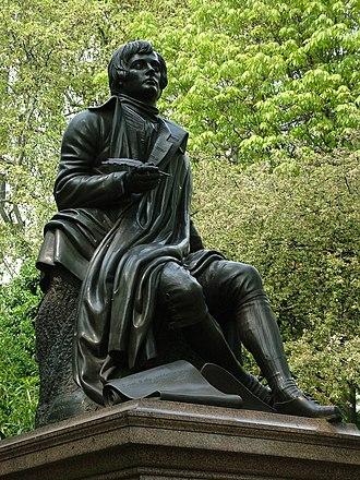 Robert Burns (Steell) - The sculpture in London in 2006