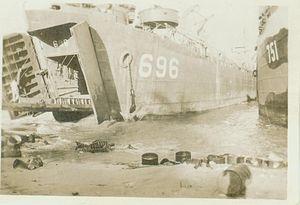USS LST-696 - Personal Photo by George Calvert, Seaman First Class, LST696