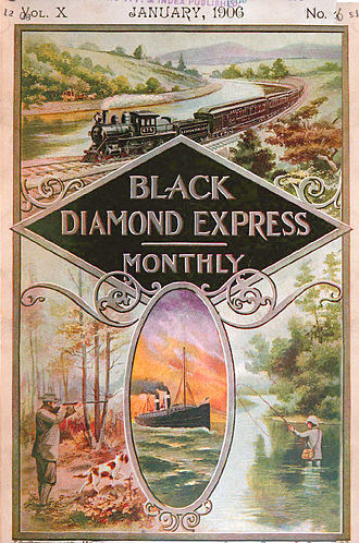 "Lehigh Line (Norfolk Southern) - Cover of the ""Black Diamond Express Monthly"" (Jan. 1906)"