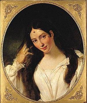 Otello (Rossini) - Maria Malibran as Desdemona by François Bouchot (1834)