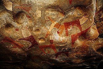 Laas Geel - Long-horned cattle and other rock art in the cave complex.