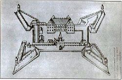 Liahavichy Castle in the 17th century