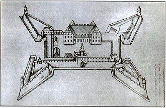 Lyakhavichy - Liahavichy Castle in the 17th century