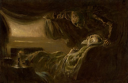 Ladislav Mednyánszky - Old Man's Death. Death of the Painter's Father - O 3135 - Slovak National Gallery