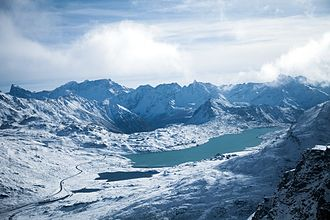 Lago Bianco - Image: Lago Bianco from Diavolezza
