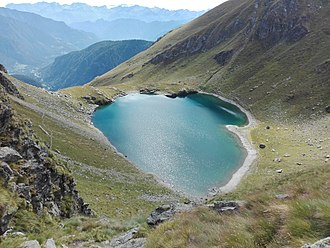 Brusson, Aosta Valley - Image: Lago di Bringuez