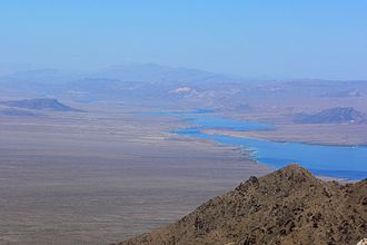 Cottonwood Valley (Arizona and Nevada) - Image: Lake Mohave from Spirit Mountain 2