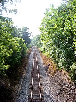 Railroad tracks near Moneta