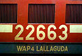 Lallaguda based (22663) WAP4 class Loco at Secunderabad.jpg