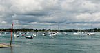 Landscape from harbour of Port-Blanc, gulf of Morbihan, France.jpg