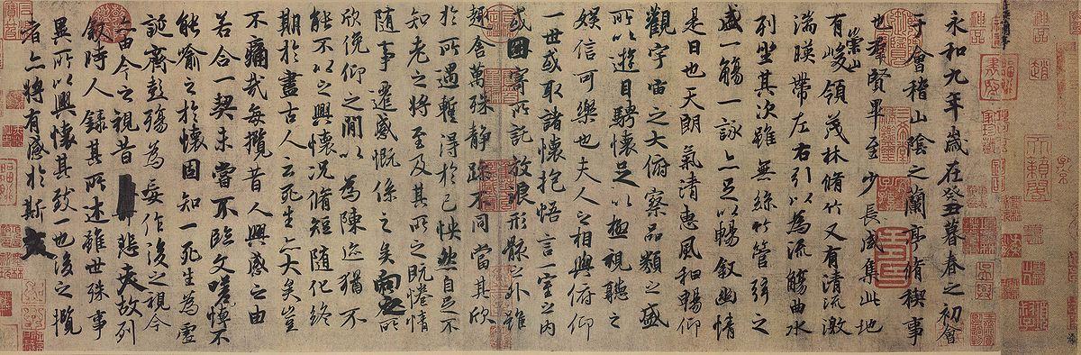 蘭亭集序(神龍本,現藏於北京故宮博物院)