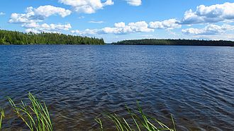 Larder Lake, Ontario - Looking south across Larder Lake from 2nd Avenue