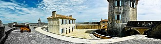 Fort Louvois - View of the interior of the fort, with the keep on the right.