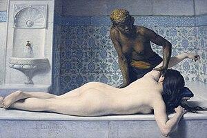 Édouard Debat-Ponsan - Le massage, 1883, Musée des Augustins,  Toulouse