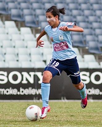 Leena Khamis - Khamis playing for Sydney FC in 2010