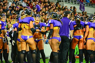 Legends Football League - Victoria Maidens players discuss their strategy