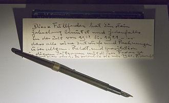 Museum Boerhaave - Leiden Museum Boerhaave Einstein Pen